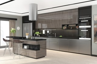 Кухни по индивидуальным проектам с фасадом «AGT»