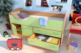 Кровать - чердак «Дарья 1»  с матрасом