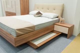 Кровать «Акцент» с ортопедическим основание и матрасом