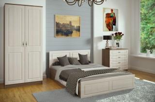 Спальня «Ангелина 2» МДФ с матрасом