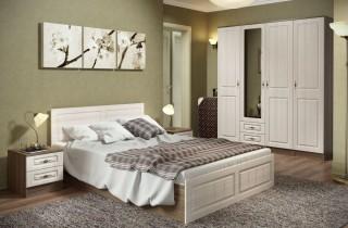 Спальня «Ангелина 3» МДФ с матрасом