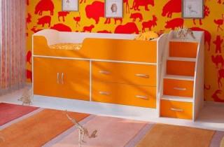 Кровать - чердак «Дарья 2» с лестницей и матрасом