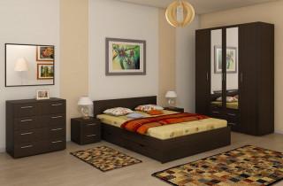 Спальня «Глория» МДФ с матрасом