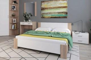 Кровать «Камея» с ортопедическим основанием и матрасом
