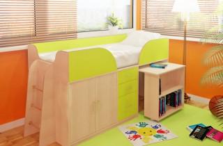 Кровать - чердак «Кенгуру» с матрасом