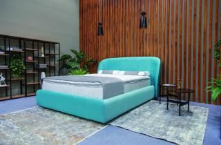 Кровать «Волна» с ортопедическим основанием и матрасом