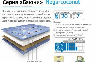 Матрас «Nega-coconut»