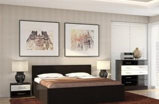 Спальня «Верона» МДФ с матрасом