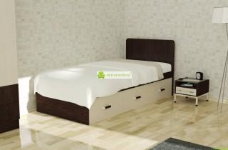 Кровать «Веста» с матрасом + 3 ящика