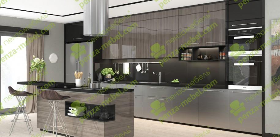 Кухни по индивидуальным размерам с фасадом «AGT»